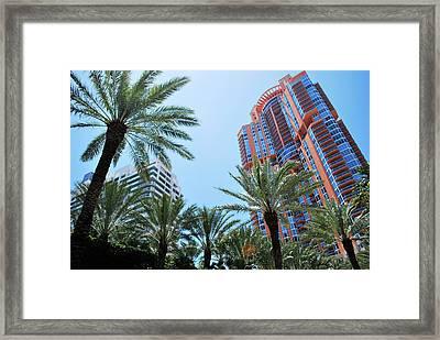 Portofino Towers South Beach Miami Framed Print by Amanda Vouglas