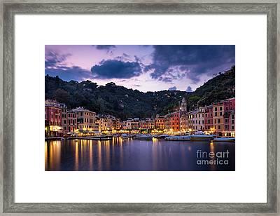 Portofino Twilight Framed Print by Brian Jannsen