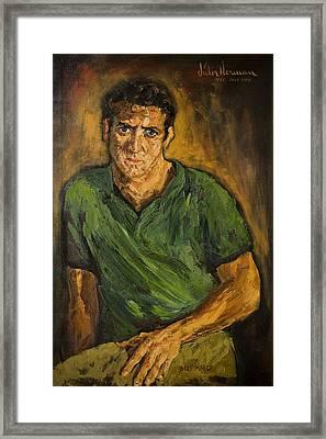 Portrait - Bert Marge Framed Print by Joni Herman