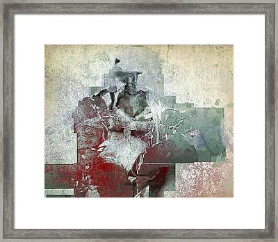 Framed Print featuring the photograph Portrait Abstract Variation #04 by Richard Wiggins