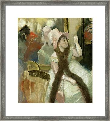 Portrait After A Costume Ball Framed Print