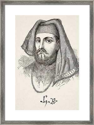 Portrait And Autograph Of King Henry Iv Framed Print