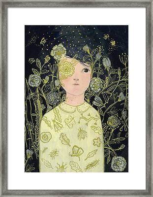 Portrait At Night Framed Print by Paola Zakimi