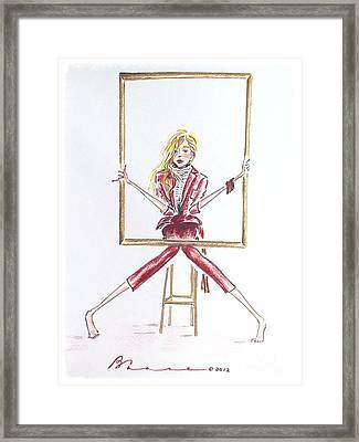 Portrait Framed Print by Barbara Chase