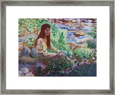 Portrait By The Stream Framed Print