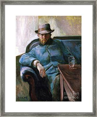 Portrait De Hans Jaeger Framed Print by MotionAge Designs