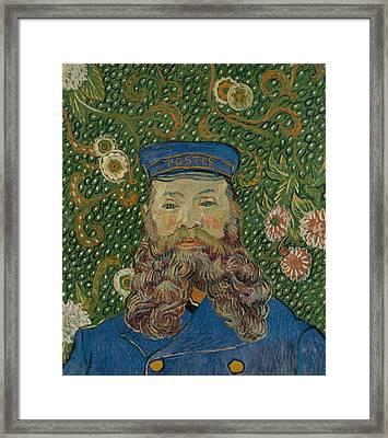 Portrait De Joseph Roulin Framed Print by Vincent van Gogh