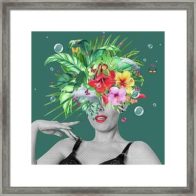 Portrait Floral  Framed Print by Mark Ashkenazi