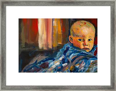 Framed Print featuring the painting Portrait For A Mother by Angelique Bowman