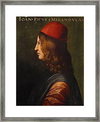 Portrait From The Uffizi  Framed Print by MotionAge Designs