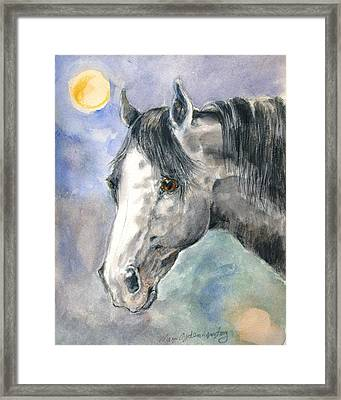 portrait Gray II Framed Print by Mary Armstrong