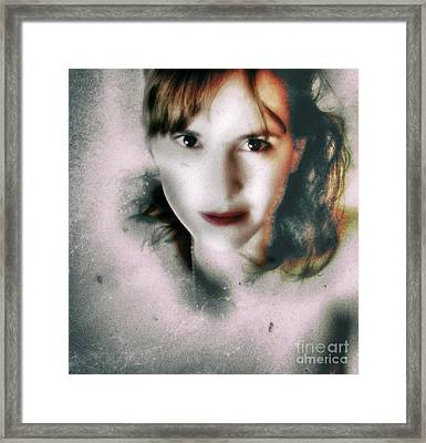 Portrait In Antonym  Framed Print by Steven Digman