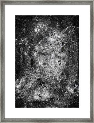 Portrait In Black Framed Print by Randy Steele
