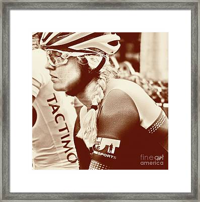 Portrait In Cycling  Framed Print by Steven Digman