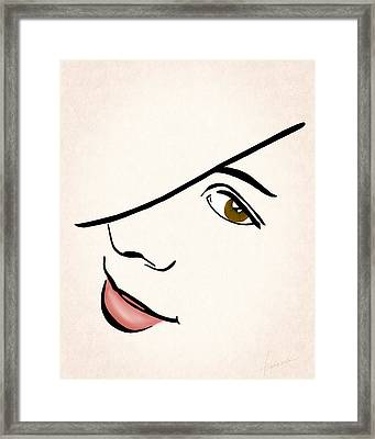 Portrait In Line Framed Print by Francesa Miller