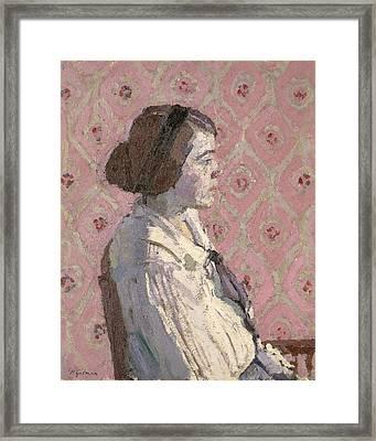 Portrait In Profile Framed Print