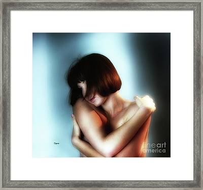Portrait In Sensuous  Framed Print by Steven Digman