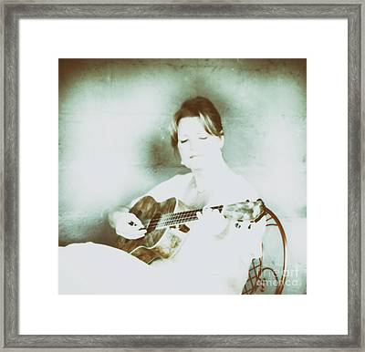 The Sound Of A Portrait  Framed Print by Steven Digman