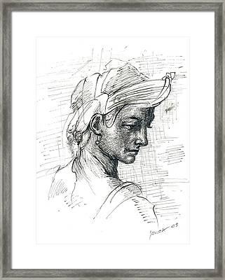 Portrait Framed Print by Jovica Kostic