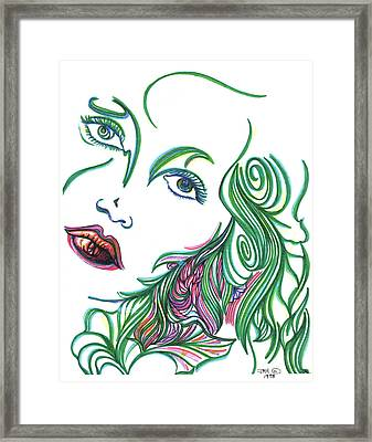 Portrait Framed Print by Judith Herbert