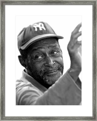 Portrait Male With Yankee Cap Framed Print