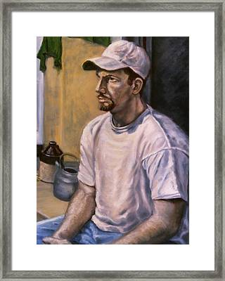Portrait Mark Framed Print by John Clum