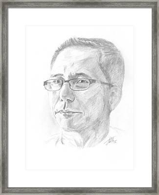 Portrait Framed Print by Masha Batkova