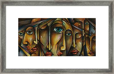 Portrait Framed Print by Michael Lang