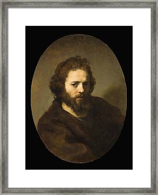Portrait Of A Bearded Man Framed Print by MotionAge Designs