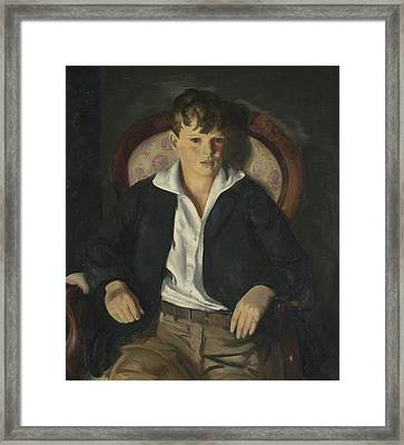 Portrait Of A Boy  Framed Print