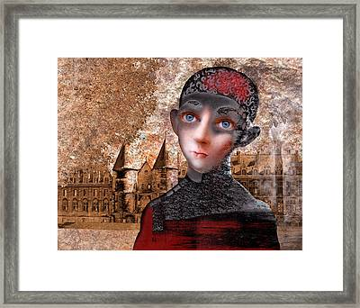 Portrait Of A Boy With A Castle In The Background. Framed Print by Ilir Pojani