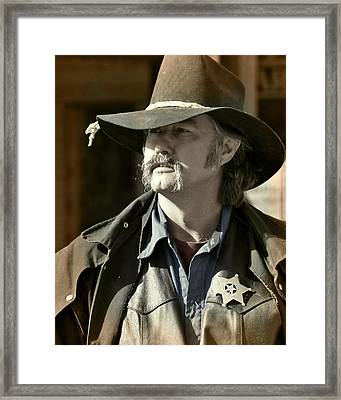 Portrait Of A Bygone Time Sheriff Framed Print by Christine Till