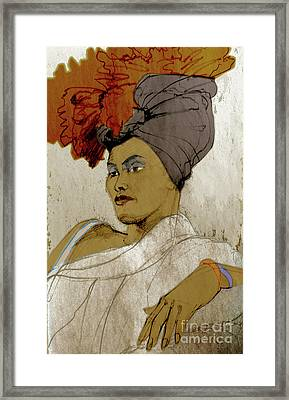 Portrait Of A Caribbean Beauty Framed Print