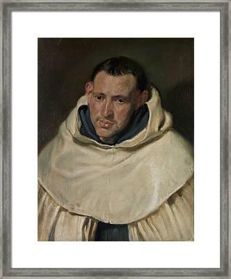 Portrait Of A Carmelite Friar Framed Print by Anthony van Dyck