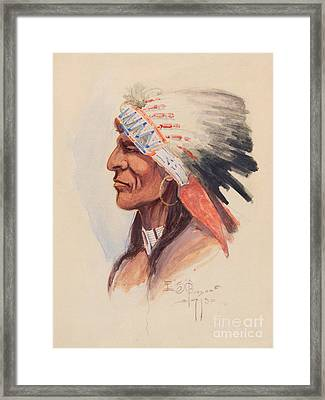 Portrait Of A Chief Framed Print by Celestial Images