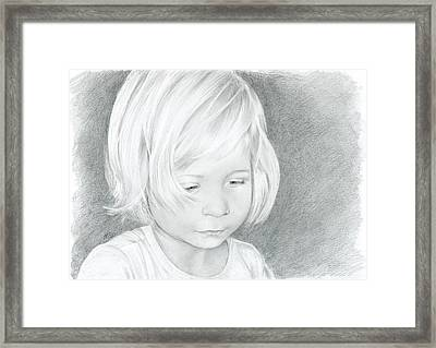 Portrait Of A Child 2 Framed Print