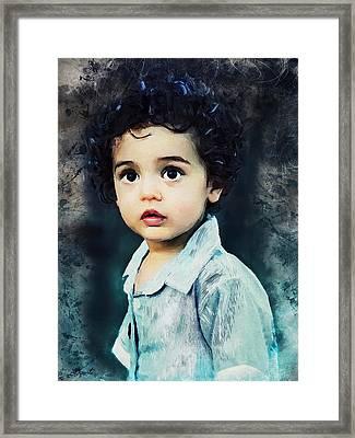 Portrait Of A Child Framed Print