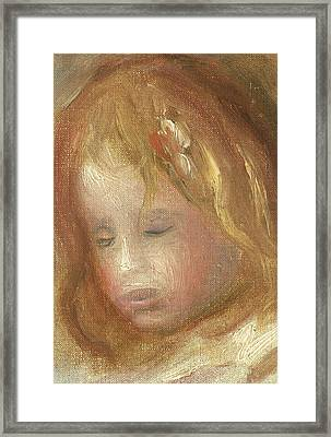 Portrait Of A Child Framed Print by Pierre Auguste Renoir