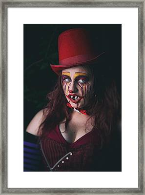 Portrait Of A Clown Framed Print