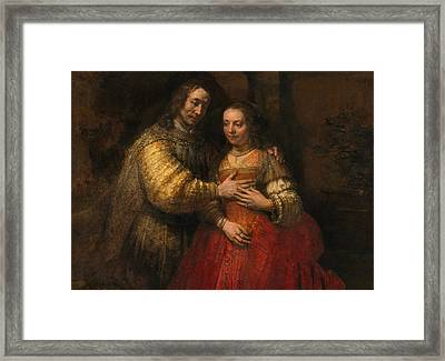 Portrait Of A Couple As Figures From The Old Testament Framed Print