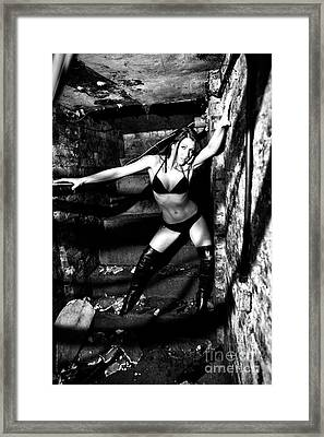 Portrait Of A Dancer By Mb Framed Print