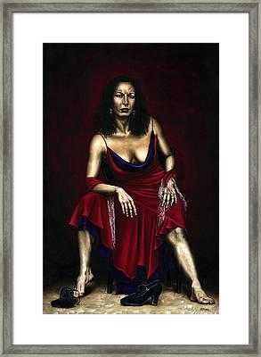 Portrait Of A Dancer Framed Print