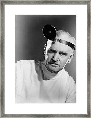 Portrait Of A Doctor Framed Print by Underwood Archives