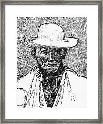 Portrait Of A Farmer Framed Print