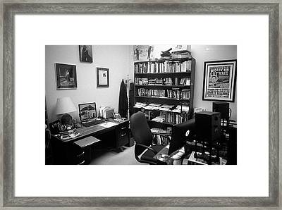 Portrait Of A Film/tv Professor's Office Framed Print