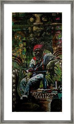 Portrait Of A Friend Framed Print by Samuel Miller