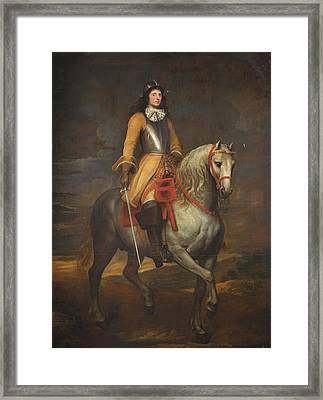 Portrait Of A General Framed Print by Anthony van Dyck