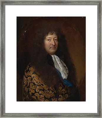 Portrait Of A Gentleman Framed Print by Francois de Troy