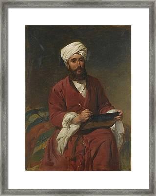 Portrait Of A Gentleman In Oriental Dress Framed Print