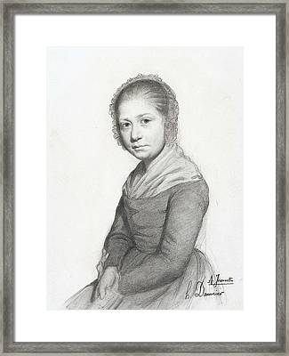 Portrait Of A Girl Framed Print by Honore Daumier